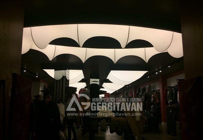 Giyim Mağazası gergi tavan uygulaması